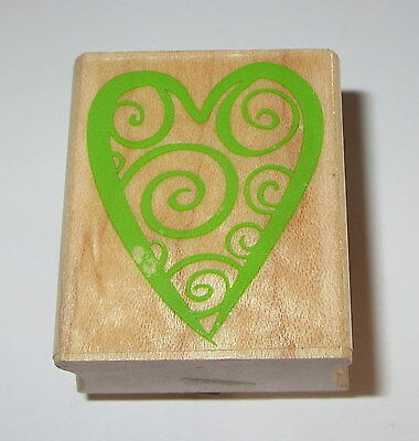 Hero Arts Braided Heart F612 Valentines Love Wood Mounted Rubber Stamp 1989