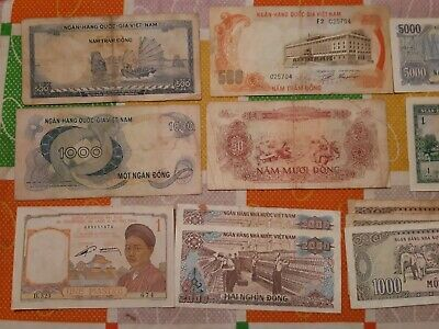 Collection Of Vietnamese Banknotes