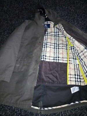 Boys 2 in 1 Burberry  Coat Jacket. Waxed Burberry parka nova check, Age 10