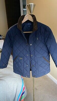 Boys Genuine RALPH LAUREN POLO Navy Boys Quilted Coat/ Jacket - UK age 7