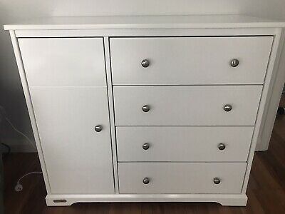 Grotime Dulcet White Nursery Dresser Drawers Cabinet and Change Table