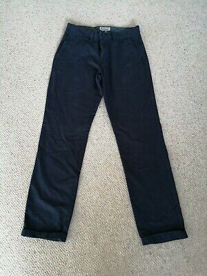Navy Men's Boys Chino Trousers Size W30 L32 Tu Sainsburys Brand