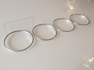 VW  VOLKSWAGEN CADDY 2003+ CHROME ALUMINIUM AIR VENTS SURROUND RINGS x 4