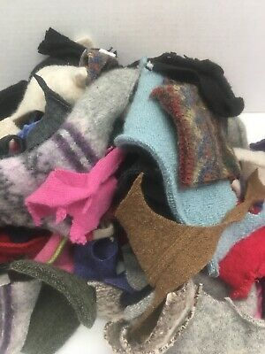 1 Pound Felted Wool Sweater Scraps Cuttings Pieces Crafts Cutters Applique 20-10