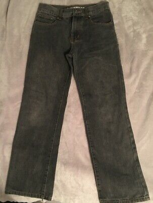 Denim & Co Boys Faded / Distressed Black Jeans Age 11-12