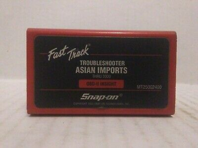 Snap-On Fast Track Troubleshooter Cartridge Asian Thru '00 MT25002400