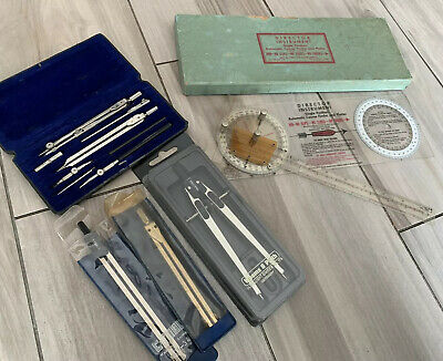 Lot of 5 Dividers & Ruler Weems Plath & C-Thru & Ascola & Tacro & Director