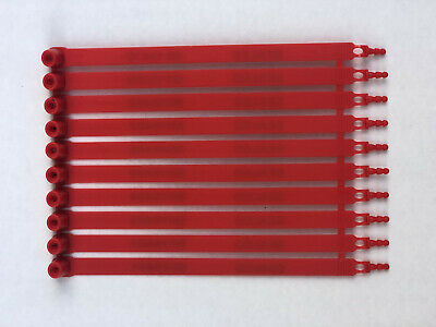 1000 RED plastic security seals numbered. Truck container seals.