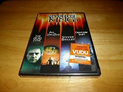 New Stephen King Collection DVD (2015) Dead Zone, Pet Sematary, Silver Bullet