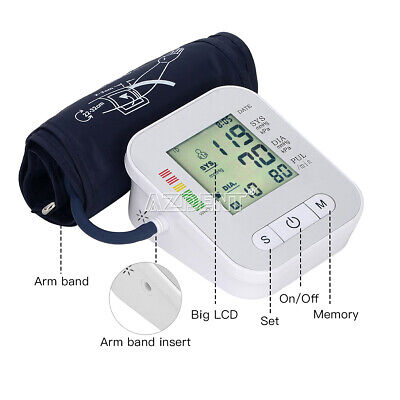 US Automatic VOICE Blood Pressure Monitor Wrist LCD Digital Display Screen SALE