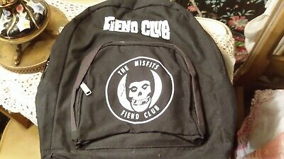 The Misfits Vintage Fiend Backpack Signed Jerry Only
