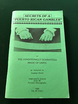 Secrets of a Puerto Rican Gambler by Stephen Minch (First edition)