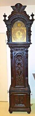 Large Rare Elliott Rj Horner Grandfather / Tall Case Clock C1890-1910