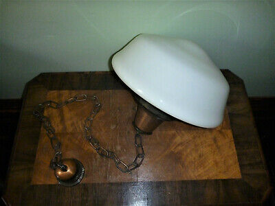 Antique School House Hanging Light Shade with Fittings.