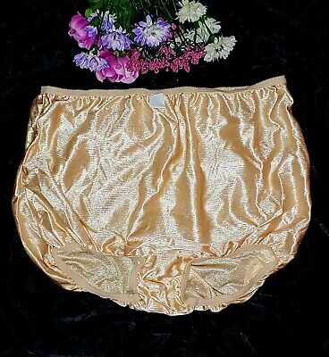 Vintage Ultra Glossy Satin Sissy Second Skin Granny panties PLUS Knickers 10/3X