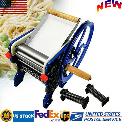 150-4 Commercial Stainless Steel & Iron Pasta Pressing Machine Noodle Machine US