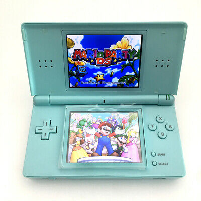 Light Blue Refurbished Nintendo DS Lite NDSL Video System Game Console W/Charger
