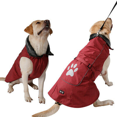 SMALL to EXTRA LARGE Dog Pet Waterproof Jacket Clothes Winter Rain Coat Warm