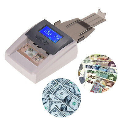 Money Counter Bill Cash Currency Counting Machine Counterfeit Detector USD Q9B6