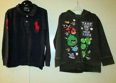 Boys Bundle Age 4 Years Ralph Lauren Top & Angry Birds Hoodie Used Condition