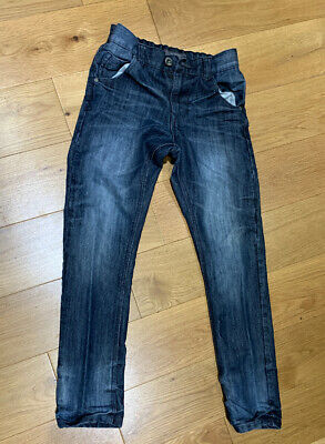 Next Boys Blue Skinny Jeans Age 12 adjustable waist worn once