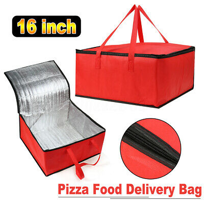 16 in Pizza Burgers Pies Delivery Bag Insulated Thermal Food Storage Holds Carry