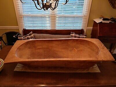 Antique Wooden Trencher/Dough Bowl