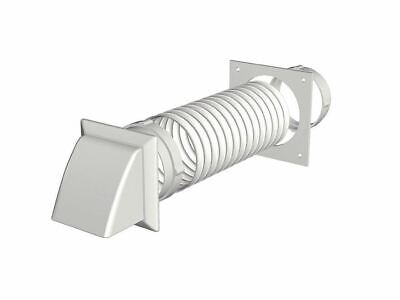 Make Tumble Dryer Extraction Kit - Cowled White 150Mm
