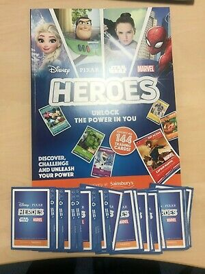 Sainsbury's Heroes Album and 20 Packs of Cards