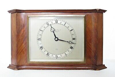 Large Elliott Art Deco Mantel Clock, Retailed By Garrard, Working Well
