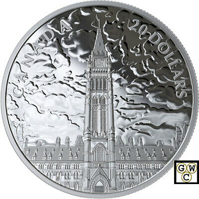2019 'Lights of Parliament Hill' Proof $20 Silver Coin 1oz .9999 Fine(18796)(NT)