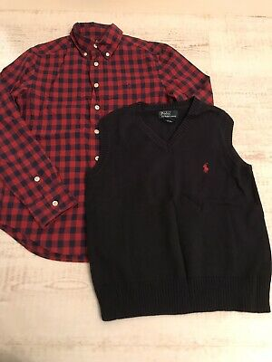 Ralph Lauren boys set Age 8-10, Shirt And Tank Top Ex Condition