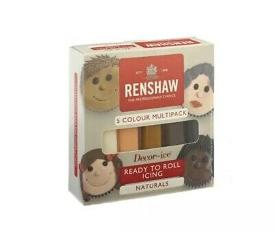 Natural Colour Multipack Of 5 x 100g Renshaw Ready To Roll Regal Icing
