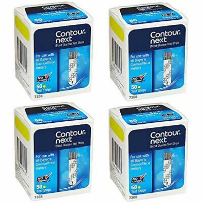 Bayer Contour Next Test Strips, 7308, 4 Pack (200 Strips)