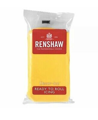 Renshaw Yellow 500g fondant Sugarpaste icing Ready To Roll