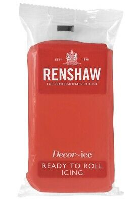 Renshaw Red 500g fondant Sugarpaste icing Ready To Roll