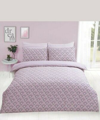 Dreamscene Warrior Duvet Cover with Pillow Case Geometric Bedding Set Pink grey
