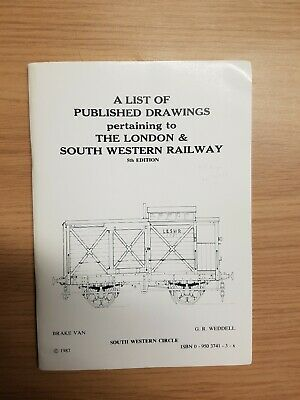 List Of Drawings For The London & South Western Railway 1987 South Western...