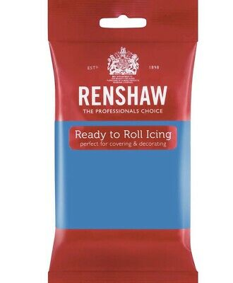 Renshaw Turquoise 250g fondant Sugarpaste icing Ready To Roll
