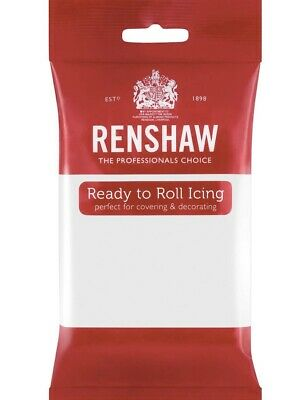 Renshaw White 250g fondant Sugarpaste icing Ready To Roll