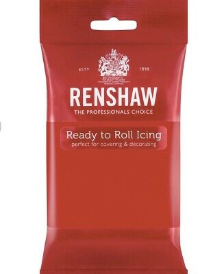 Renshaw Poppy Red 250g fondant Sugarpaste icing Ready To Roll