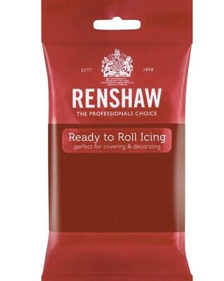 Renshaw Ruby Red 250g fondant Sugarpaste icing Ready To Roll
