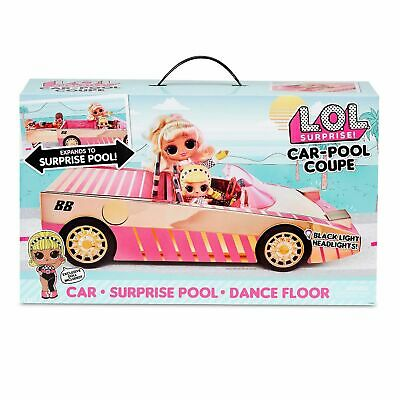 LOL SURPRISE Car-Pool Coupe With EXCLUSIVE Doll Pool Car Dance Floor ~ NEW