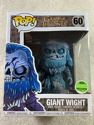 """Funko Pop Game of Thrones 60 Giant Wight 6"""" ECCC Spring Convention Exclusive FYE"""