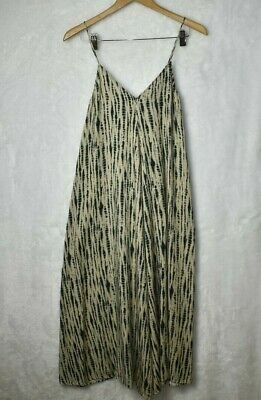 ZARA MAXIKLEID BATIK NECKHOLDER KLEID TIE DYE MAXI DRESS OPEN BACK HALTER NECK