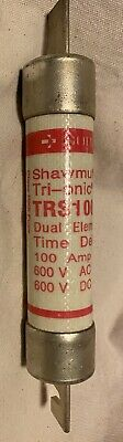 Shawmut Tri-onic TRS100R Time Delay Fuse Class RK5 100 Amps 600VAC/600VDC New