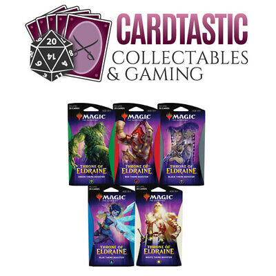 Magic the Gathering TCG Throne of Eldraine Theme Booster Set of 5
