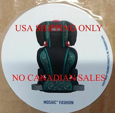 NEW Graco 1834909 TurboBooster Car Seat Mosaic MAN DATE JUL 18 2019 $66-READ USA