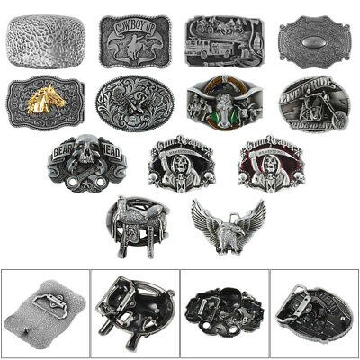 Metal Cowboy Western Vintage Women Mens Belt Buckle For Leather Belt 38mm 40mm