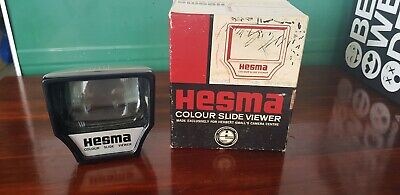 Retro Hesma vintage colour slide viewer with box not working parts or display
